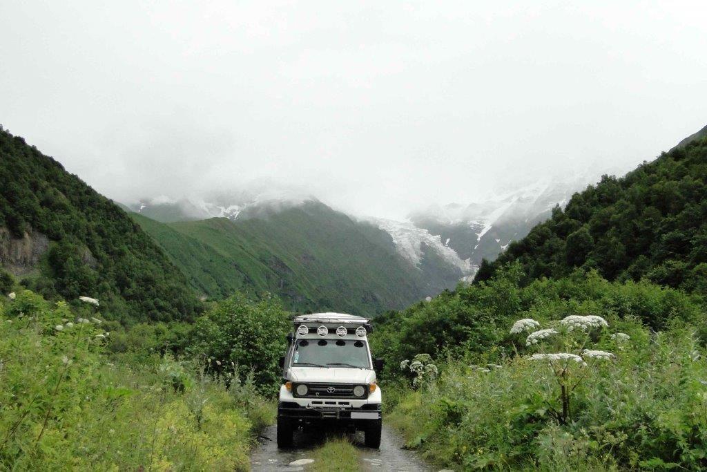 le haut Caucase georgien..
