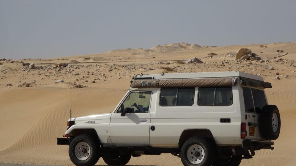 après la frontière mauritanienne!