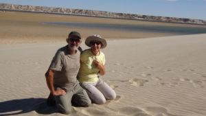sympa le sable blanc pour les retraités..!
