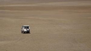 voyez les points foncés sur le sable?