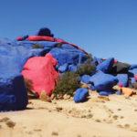 Rochers peint par un belge 19 tonnes de peinture!!