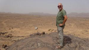 site de peintures rupestres découvert par Théodore Monod!!